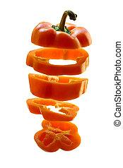 coupé, poivre orange
