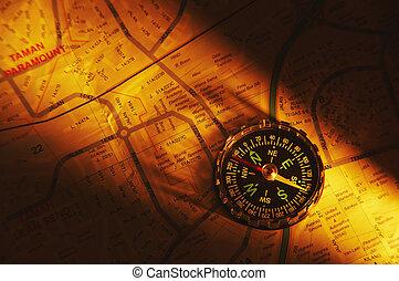 coup, carte, compas
