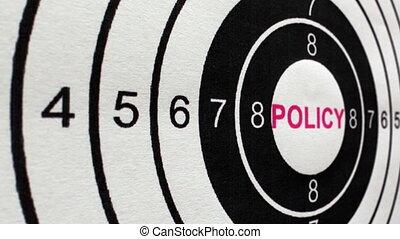 coup, chariot, concept, politique, cible