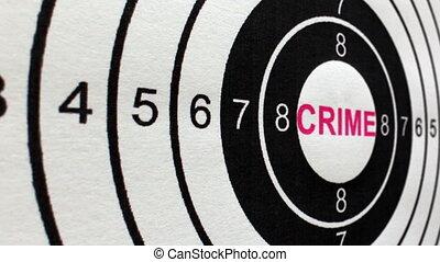 coup, cible, crime, concept, chariot