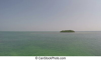 coup, clés, île, deux, mangrove, fl