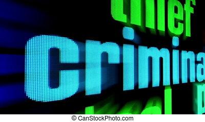 coup, concept, criminel, ligne, chariot