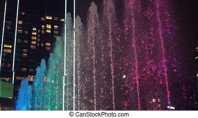 coup, danse, coloré, fontaines, slowmotion, super, musical