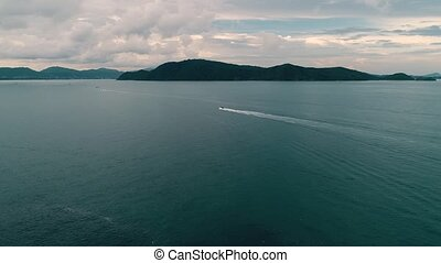 coup, divertissement, catamarans, île, corail, sports, grand, petit, bourdon, trafic, peche, thaïlande, actif, schooners, tourists., bateaux
