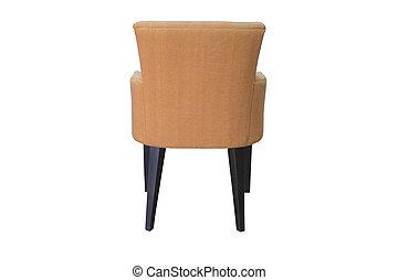 coup, fauteuil, isolé, studio, fond, blanc