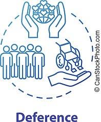coup, idée, universel, respect, icon., contour, respect., ...