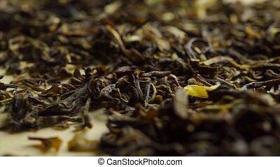 coup, macro, jasmin, tas, chariot, vert, tea.