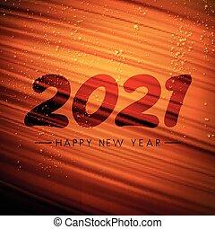 coup pinceau, signe, arrière-plan., orange, 2021