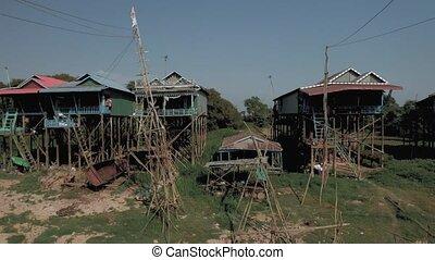 coup, sève, pean, cambodge, lac, flotter, phluk, tonle, vol...