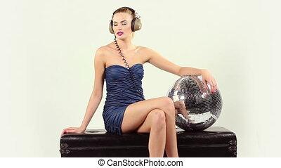 coup, séance, disco, gogo, rotation, danseur, poser, sexy, studio, ball.