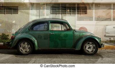 coup, séquence, ceci, voitures, faire, volkswagen, froussard...