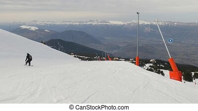coup, ski, vue, point