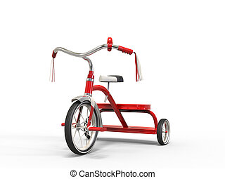 coup, -, studio, rouges, tricycle