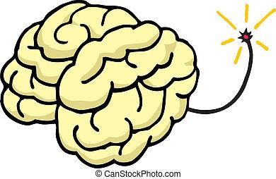 coup, sur, esprit, explode/, cerveau, ton