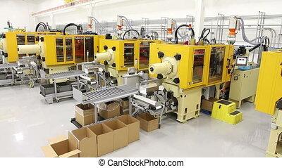 coup, usine, fabrication, grue