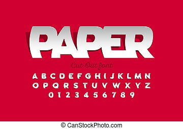 coupe-circuit papier, style, police