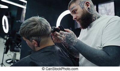 coupe, hairclipper., razor., coiffeur, chevêtre, shaver., ...