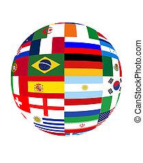 coupe monde, 2014, drapeaux