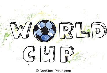 coupe monde, football, fond
