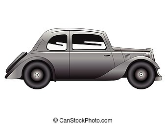 Coupe - vintage model of car - Vector illustration of the...