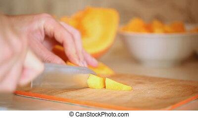 couper, citrouille