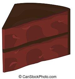 couper, gâteau chocolat