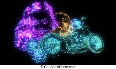 couperet, motocyclette, vendange, vidéo, roses