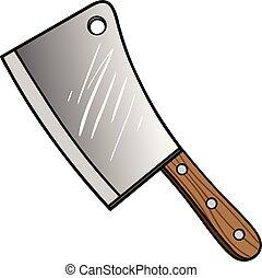 couperet, viande
