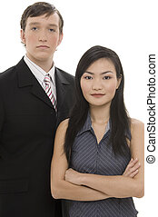 couple, 2, business