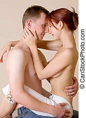 couple #27 - Woman sitting on the lap of her boyfriend
