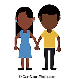 couple afro american lovely vector illustration eps 10