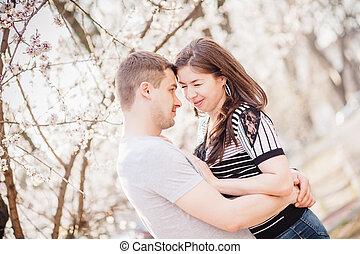 couple, aimer, nature
