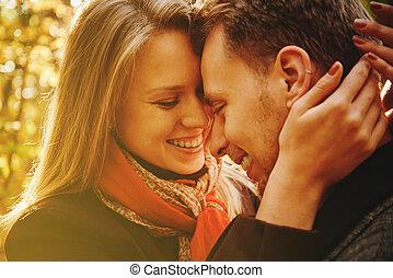 couple, amour, heureux