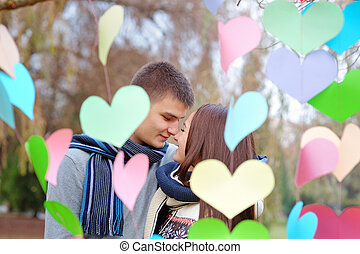 couple, amour, jour, valentine