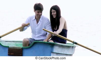 couple, amour, vacances, heureux