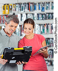 Couple Analyzing Toolkit In Store