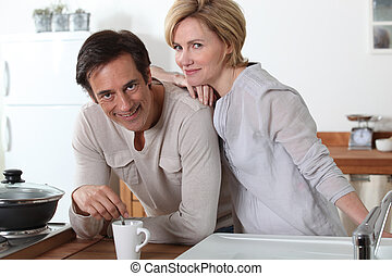 Couple and a cup of tea