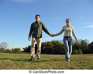 couple and autumn