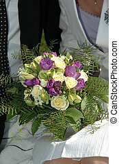 Couple and bouquet