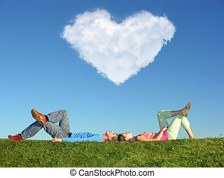 couple and cloud heart