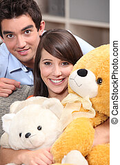 Couple and plush