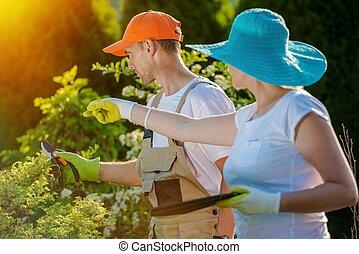Couple and Their Garden