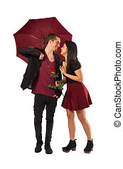 Couple and Umbrella