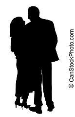 couple, arrière affichage