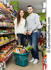 Couple at a local supermarket