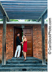 Couple At Entrance