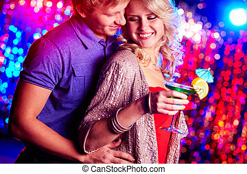 Couple at party