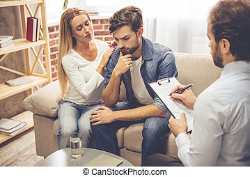 Couple at the psychologist