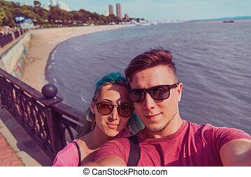 couple, autoportrait