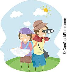 couple, aventuriers